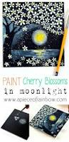 how to paint cherry blossoms on black paper black paper