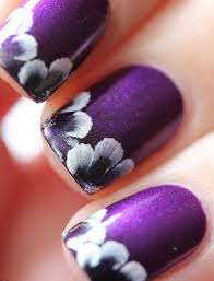 Pic Of Nail Art Designs Fantastic Purple Colored Nail Art Trendy Mods Com