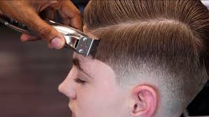 hair cut book front back view haircut tutorial mens combover blow dry style youtube