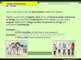 usage of determiners youtube