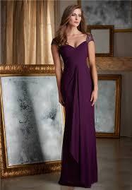 Long Draped Dress Sweetheart Cap Sleeve Long Purple Chiffon Draped Women Evening Dress