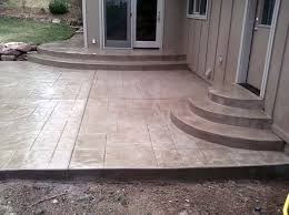 Pacific Decorative Concrete Patio Steps Textured Stamped Concrete Patio Steps Jpg For The