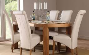 table and 6 chair set perfect cream dining table and chairs clifton oval oak dining table