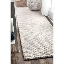 White Runner Rug Nuloom Handmade Casual Braided Wool White Runner Rug 2 6 X 8