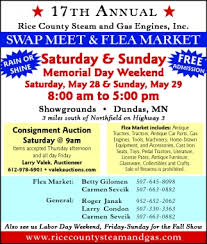 SWAP MEET AND FLEA MARKET Rice County Steam And Gas Engines