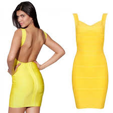 back bandage bodycon dress