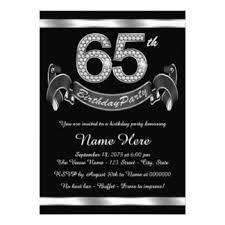 65th birthday invitations u0026 announcements zazzle