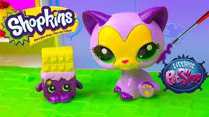 diy shopkins season inspired lps mcdonalds happy meal toys cat