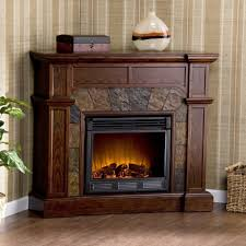 lovely fireplace mantel kits design on corner with vertical stripped wallpaper