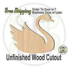 swan 230045 bird cutout unfinished wood cutout wood craft