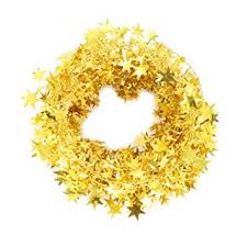 decorations gold wire garland 25 ft x 2