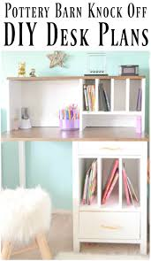 small desk plans free diy desk hutch with free plans from ana white i am a homemaker
