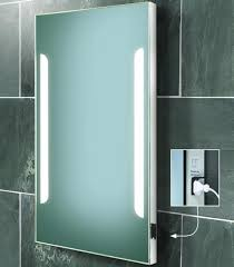 exquisite bathroom mirrors with lights and shaver point also