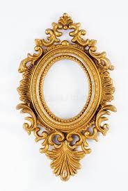 oval vintage gold ornate frame royalty free stock photos image