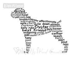 boxer dog howling boxer dog art pet art boxer dog word art pet word art pet