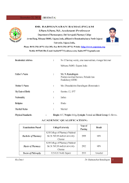 Sample Resume For Assistant Professor by Resume Format For Assistant Professor In Engineering College