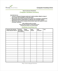 inventory list form inventory list templates free download