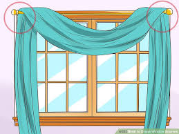 How To Draping How To Drape Window Scarves 5 Steps With Pictures Wikihow
