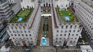 Rockefeller Center Summer Garden - photos the sideways swimming pool at rockefeller center van