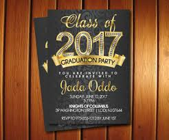 gold diamond graduation invitations for college or high