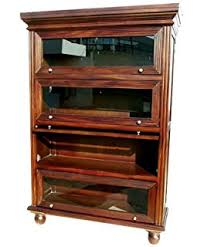 Arts And Craft Bookcase Amazon Com Arts And Crafts Mission Oak 3 Stack Barrister Bookcase