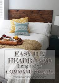 easy diy headboard easy diy headboard hung using command strips over the big moon