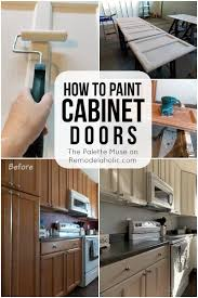 how paint cabinet doors remodelaholic bloglovin how paint cabinet doors