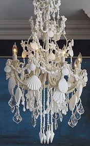 Seashell Light Fixture An Ethereal Symphony Of Cascading Crystals And Seashells Our