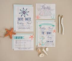Beach Wedding Invitation Cards Beach Modern Nautical Preppy Blue Multicolor Pink Beach