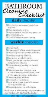 Bathroom Cleaning Checklist Template Daily Bathroom Cleaning Checklist U2013 Calendar