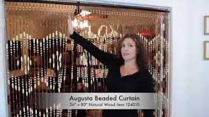 shopwildthings how to hang wood beaded curtains next to each