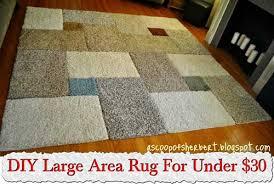 Diy Area Rug Diy Large Area Rug For 30