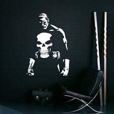 aliexpress com buy punisher vinyl wall decal words hero marvel