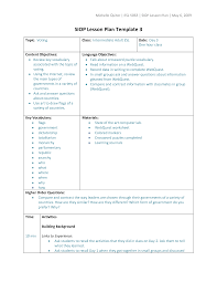 types of lesson plan templates siop lesson plan template 3