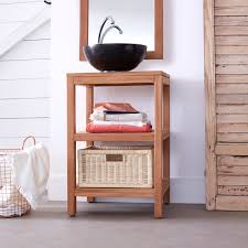 Teak Vanities Teak Washstand Bahya Solo Bathroom Washstand At Tikamoon