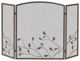 Best Fireplace Screen by Panacea Open Hearth Collection 3 Panel Oak Leaf Fireplace Screen