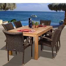 Teak Dining Room Set by 6pc Extendable Teak Wood Dining Set 4 Stationary Chairs 4inch