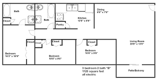 floor plans 3 bedroom 2 bath floor plans pricing