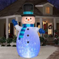 Blow Up Holiday Decorations Gemmy 12 Ft Inflatable Kaleidoscope Snowman Christmas Holiday