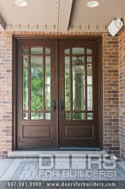 glass outside doors wooden door with beveled glass and prairie grills custom wood