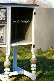 shizzle design this hand painted antique buffet is dressed to