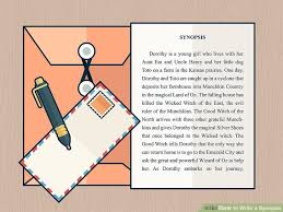 how to write a synopsis with pictures wikihow