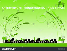 Business Card For Construction Company Brochure Cover Business Card Architecture Construction Stock