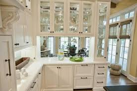 Decorating With Glass Cabinets Doors Brings Light Into Modern - Classic kitchen cabinet