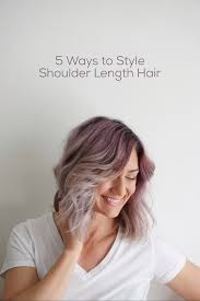 easy up hairstyles for medium length hair 5 ways to wear shoulder length hair cute girls hairstyles