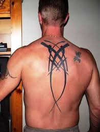 fabulous tribal tattoo on back for men in 2017 real photo