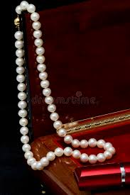 pearl necklace jewelry box images Pearl necklace stock photo image of ornament event 35315886 jpg