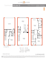 3 story townhouse floor plans landmark 3 story townhomes model b landmark doral