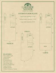 studio floor plans u2013 lakeside manor retirement
