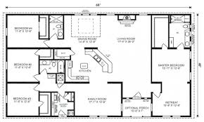 3 Bedroom Cabin Floor Plans by 3 Bedroom Rectangular House Plan 3 Bedroom House Plans Home